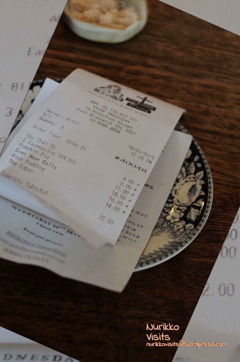 Total Bill: $72